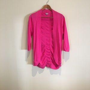 Kismet hot pink 3/4 length cardigan